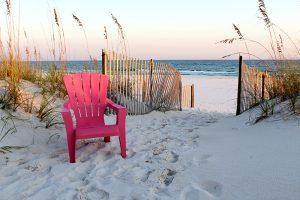 Beach chair at Gulf of Mexico